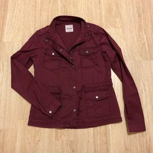 Mudd Jacket Small size, burgundy color